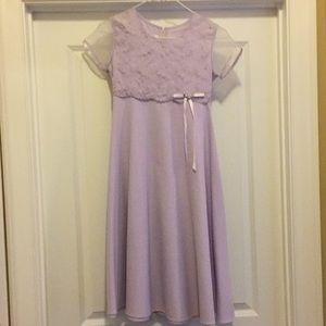 Bonnie Jean Size 10 Pale Lavender Dress